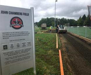 Improvements coming to John Chambers Field through Corban Athletics Soccer partnership.