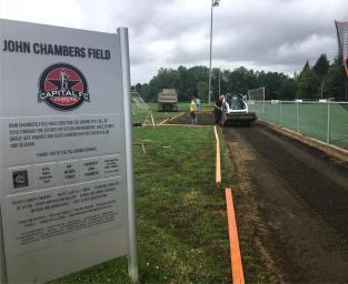 Improvements coming to John Chambers Field through Corban Athletics Soccer partnership.