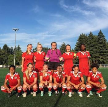 The starting 11 for Capital FC in their NWPL Semifinal.